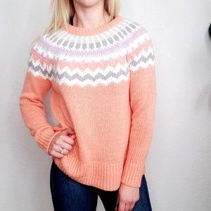 Loft Nordic FairIsle Cozy Knit Wool Mohair Sweater